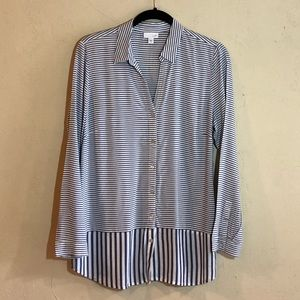 J. Jill long sleeve striped blouse size M GUC.